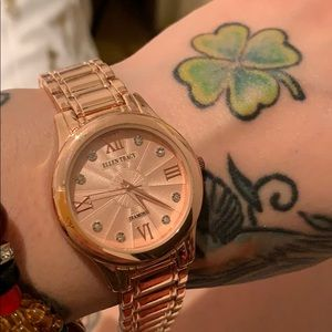 Ellen Tracy Rose Gold Watch